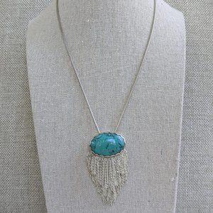 Silpada Turquoise Oasis Fringe Necklace